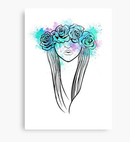 Elegant Mask - Light Background Metal Print