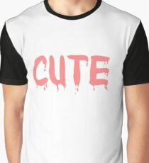 Cute Pink Drip Graphic Graphic T-Shirt
