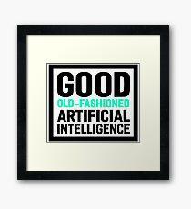 Good old-fashioned AI, black font Framed Print