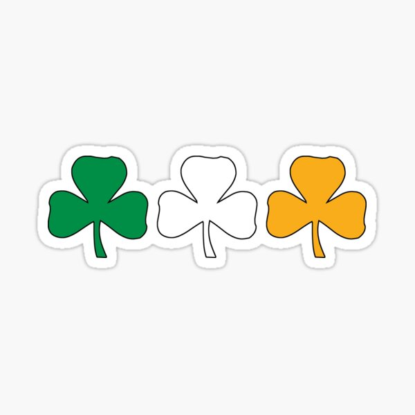 Ireland Shamrock Flag Sticker
