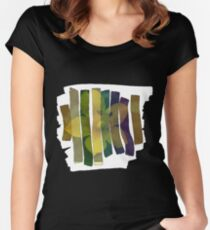 Brushed Flower Women's Fitted Scoop T-Shirt