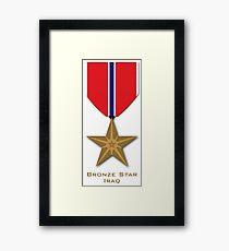 Bronze Star - Iraq Framed Print