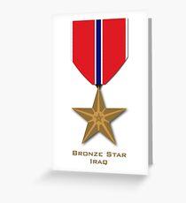 Bronze Star - Iraq Greeting Card