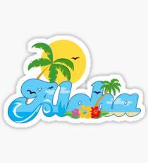 Aloha Hawaii T-Shirt Hawaiian Paradise Beach Sun Sand TShirt Sticker