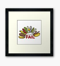 Falling Burger – Epicurean Fail Framed Print