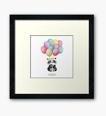 Panda Bear Floating Meditation Framed Print