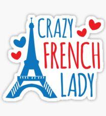 Crazy french lady Sticker