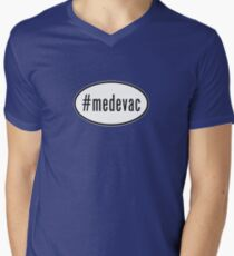 #medevac oval sticker Men's V-Neck T-Shirt