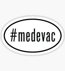 #medevac oval sticker Sticker