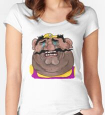 Sad Wario Women's Fitted Scoop T-Shirt