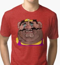 Sad Wario Tri-blend T-Shirt