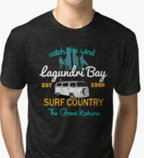 Catch The Wind Lagundri Bay Indonesia Surfing Tri-blend T-Shirt