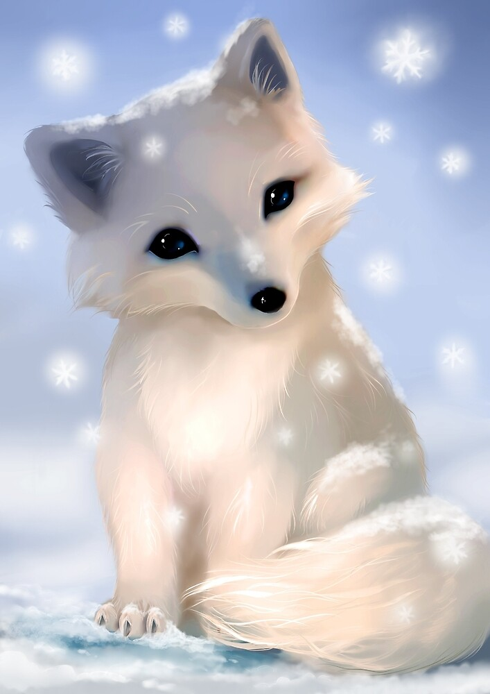 quotcute arctic foxquot by evolvana redbubble