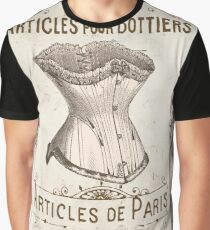 Vintage French Corset Sign Graphic T-Shirt