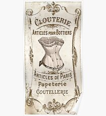 Vintage French Corset Sign Poster
