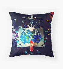 Universal Love - Crystal Healing Throw Pillow