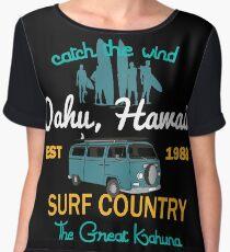 The Great Kahuna Oahu Hawaii Country Surf Chiffon Top