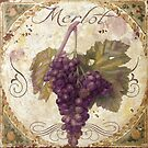 Tuscan Table Merlot Wine Grapes by mindydidit