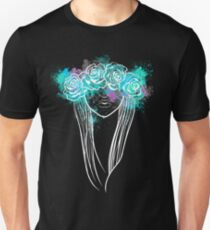 Elegant Mask - Dark Background Unisex T-Shirt