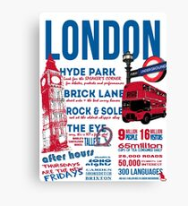London Infographic Canvas Print