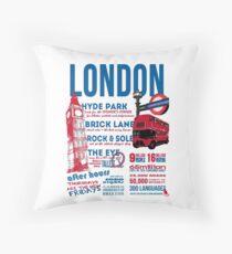 London Infographic Throw Pillow