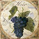 Tuscan Table Grenache Noir Wine Grapes by mindydidit