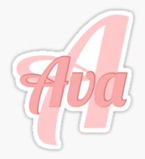 Ava with initial A  Sticker