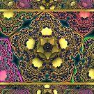 Owl Pentagram with Seamless Border by barrowda