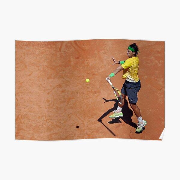 Forehand stroke (Rafael Nadal) Poster