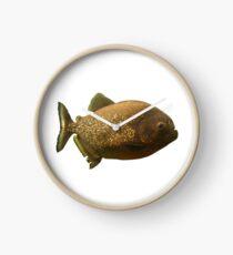 Schimmernder Piranha Clock