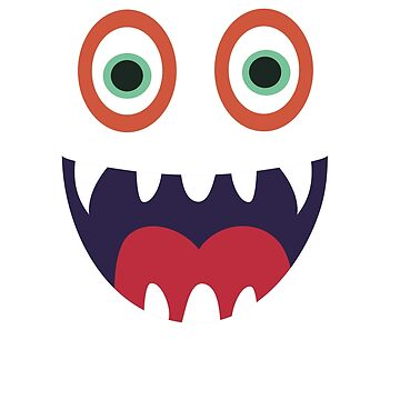 Cool Happy Monster Face T-shirt Cute Smily Face Kids Tshirt by Syfcondesign