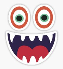 Cool Happy Monster Face T-shirt Cute Smily Face Kids Tshirt Sticker