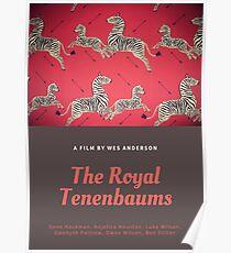 Das WESENDERS Zebraplakat des königlichen Tenenbaums Poster