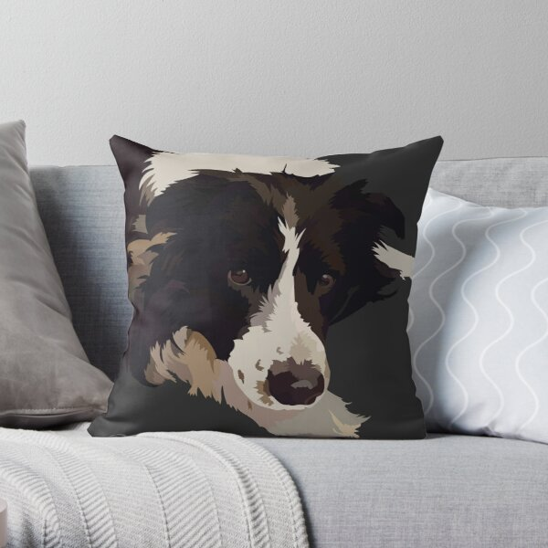 Border Collie Pillows Cushions Redbubble