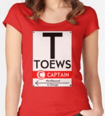 Retro CTA sign Toews Women's Fitted Scoop T-Shirt