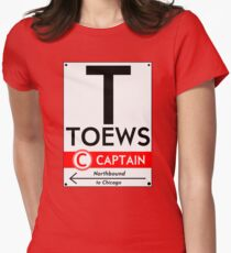 Retro CTA sign Toews Women's Fitted T-Shirt