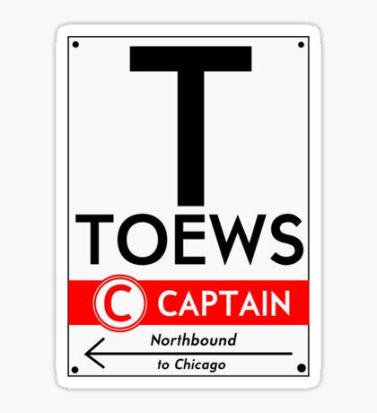Retro CTA sign Toews Sticker