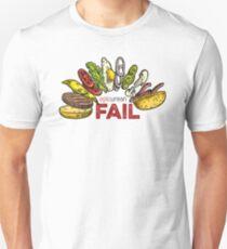 Falling Burger –Epicurean Fail Unisex T-Shirt