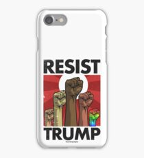 Resist Trump, Fists (Vector Recreation) iPhone Case/Skin
