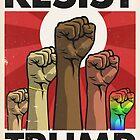 Resist Trump, Fists (Vector Recreation) by Kounter Propos