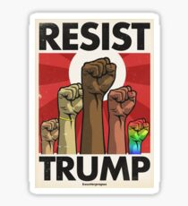 Resist Trump, Fists (Vector Recreation) Sticker
