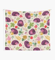 Hedgehog Print Wall Tapestry