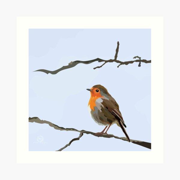 Little Red Robin Art Print