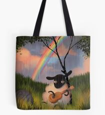 Sheep Playing Guitar Tote Bag