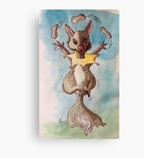 Squirrel works for peanuts Canvas Print