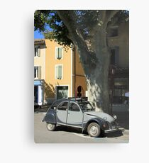 Vintage French car by ProvenceProvence Metal Print