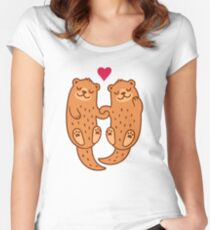 Otterly adorable Women's Fitted Scoop T-Shirt