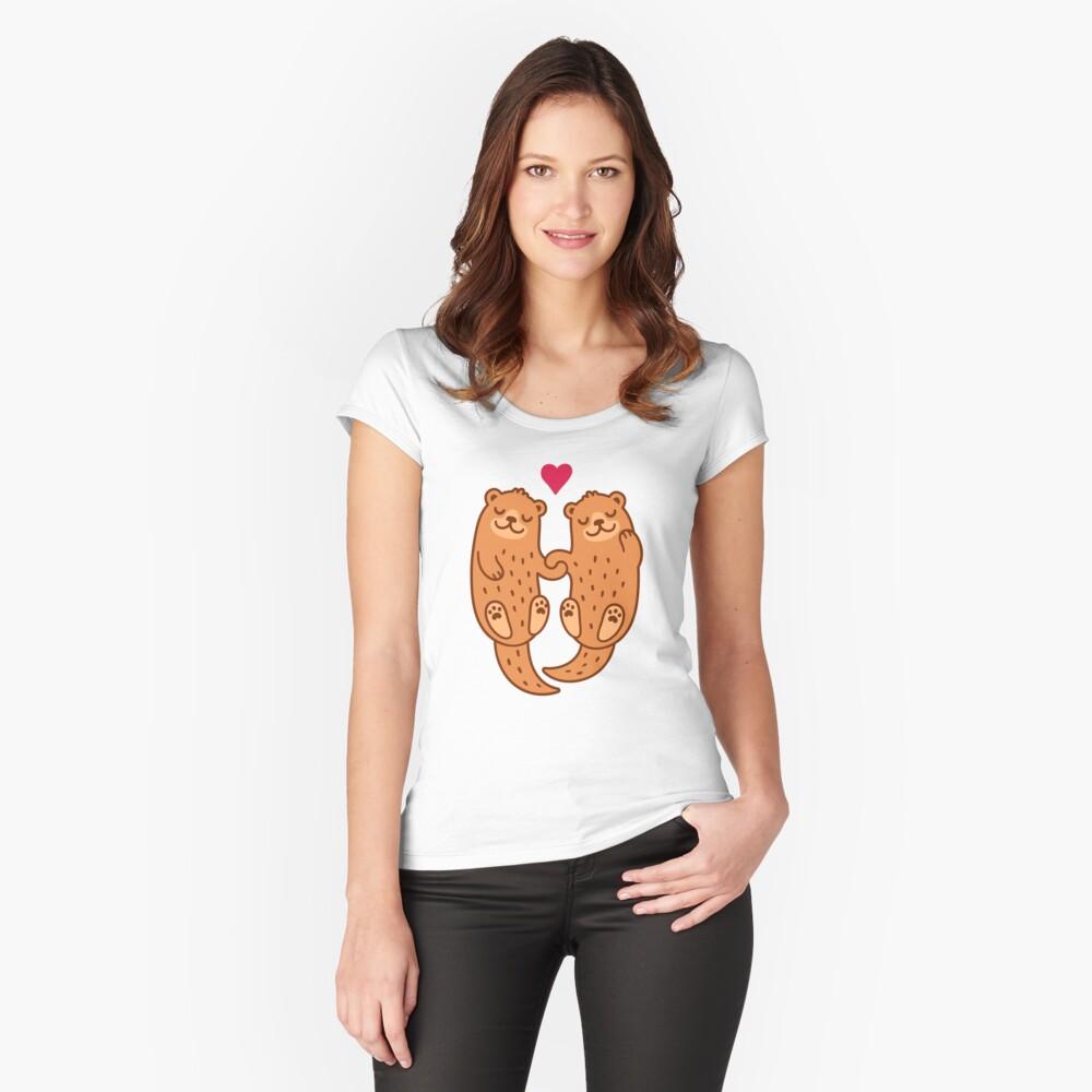 Otterly bezaubernd Tailliertes Rundhals-Shirt