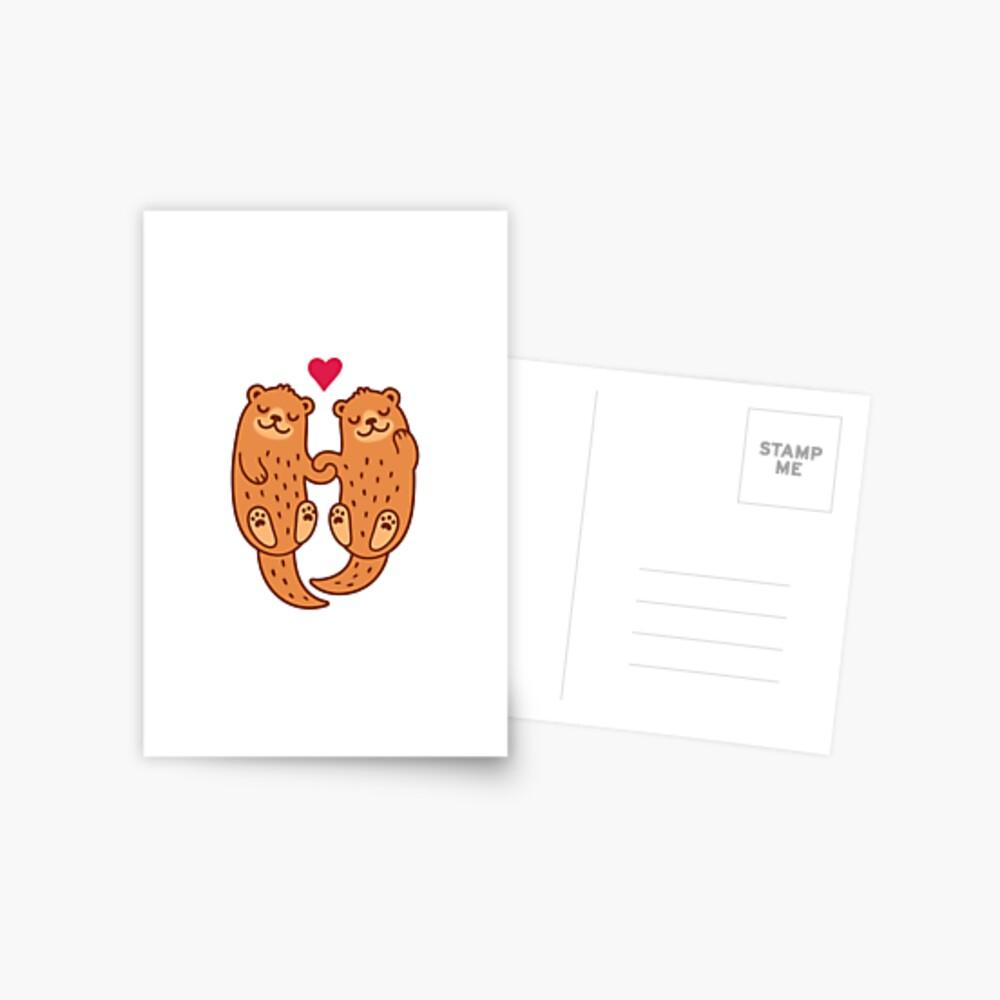 Otterly bezaubernd Postkarte
