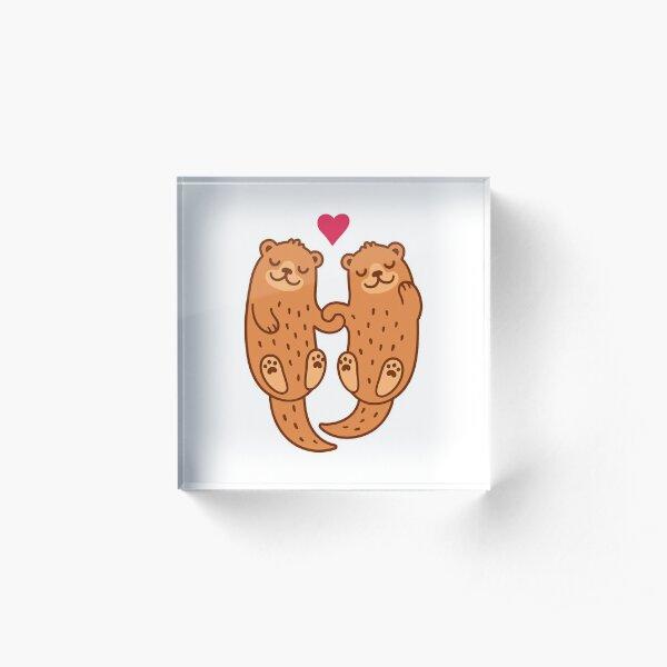 Otterly adorable Acrylic Block